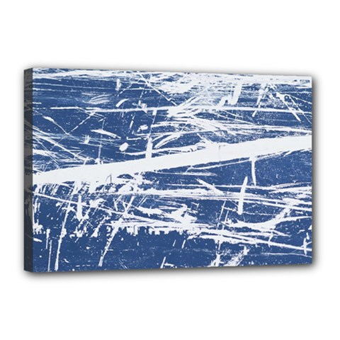 Blue And White Art Canvas 18  X 12  by trendistuff
