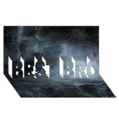 Black Splatter Best Bro 3d Greeting Card (8x4)  by trendistuff