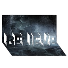 Black Splatter Believe 3d Greeting Card (8x4)  by trendistuff