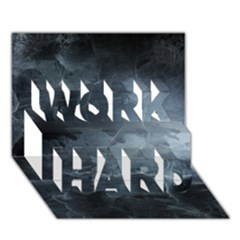 Black Splatter Work Hard 3d Greeting Card (7x5)  by trendistuff