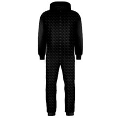 Black Honeycomb Hooded Jumpsuit (men)  by trendistuff