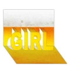 Beer Girl 3d Greeting Card (7x5)  by trendistuff