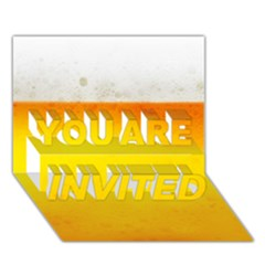 Beer You Are Invited 3d Greeting Card (7x5)  by trendistuff