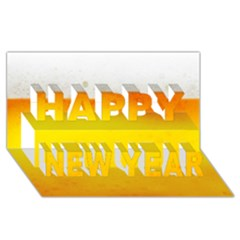 Beer Happy New Year 3d Greeting Card (8x4)  by trendistuff