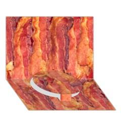 Bacon Circle Bottom 3d Greeting Card (7x5)  by trendistuff