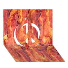 Bacon Peace Sign 3d Greeting Card (7x5)  by trendistuff
