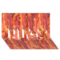 Bacon Hugs 3d Greeting Card (8x4)  by trendistuff