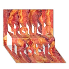 Bacon You Rock 3d Greeting Card (7x5)  by trendistuff