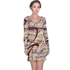 Abstract 2 Long Sleeve Nightdresses by trendistuff