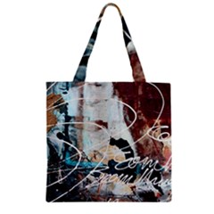 Abstract 1 Zipper Grocery Tote Bags by trendistuff