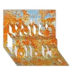 Yellow Rusty Metal You Did It 3d Greeting Card (7x5)