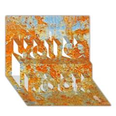 Yellow Rusty Metal You Rock 3d Greeting Card (7x5)
