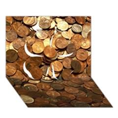 Us Coins Clover 3d Greeting Card (7x5)