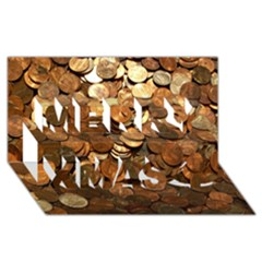 Us Coins Merry Xmas 3d Greeting Card (8x4)  by trendistuff