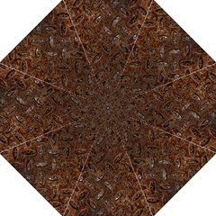 Rusty Metal Pattern Golf Umbrellas by trendistuff
