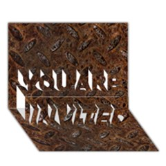 Rusty Metal Pattern You Are Invited 3d Greeting Card (7x5)