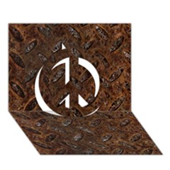 Rusty Metal Pattern Peace Sign 3d Greeting Card (7x5)