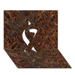 Rusty Metal Pattern Ribbon 3d Greeting Card (7x5)  by trendistuff