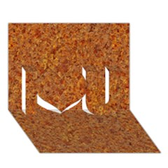 Rusted Metal I Love You 3d Greeting Card (7x5)