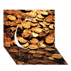 Pennies Circle 3d Greeting Card (7x5)