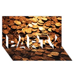 Pennies Party 3d Greeting Card (8x4)