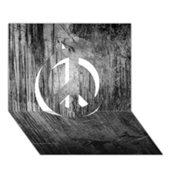 Grunge Metal Night Peace Sign 3d Greeting Card (7x5)