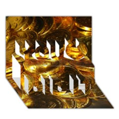 Gold Coins 1 You Did It 3d Greeting Card (7x5)