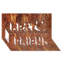 Flaky Rusting Metal Best Friends 3d Greeting Card (8x4)