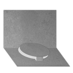 Grey Suede Circle Bottom 3d Greeting Card (7x5)