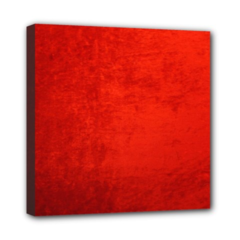 Crushed Red Velvet Mini Canvas 8  X 8  by trendistuff