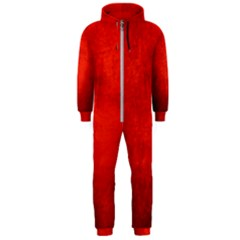 CRUSHED RED VELVET Hooded Jumpsuit (Men)  by trendistuff