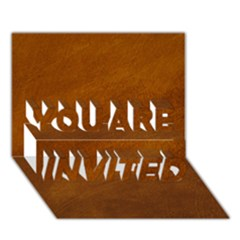 Brushed Suede Texture You Are Invited 3d Greeting Card (7x5)