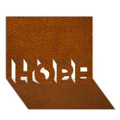 Brown Leather Hope 3d Greeting Card (7x5)