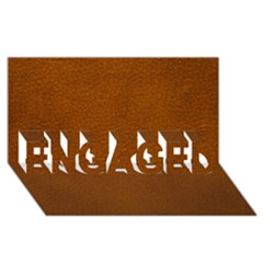 Brown Leather Engaged 3d Greeting Card (8x4)  by trendistuff