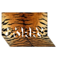 Tiger Fur Sorry 3d Greeting Card (8x4)