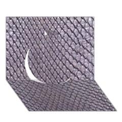 Silver Snake Skin Circle 3d Greeting Card (7x5)  by trendistuff