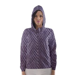 SILVER SNAKE SKIN Hooded Wind Breaker (Women)