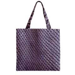SILVER SNAKE SKIN Zipper Grocery Tote Bags by trendistuff