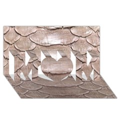 Scaly Leather Mom 3d Greeting Card (8x4)  by trendistuff