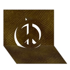 Reptile Skin Peace Sign 3d Greeting Card (7x5)  by trendistuff