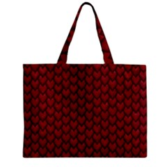 Red Reptile Skin Zipper Tiny Tote Bags by trendistuff