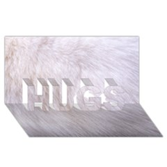 Rabbit Fur Hugs 3d Greeting Card (8x4)