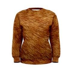 Light Brown Fur Women s Sweatshirts