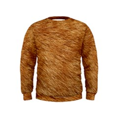 Light Brown Fur Boys  Sweatshirts by trendistuff
