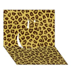 Leopard Fur Apple 3d Greeting Card (7x5)  by trendistuff