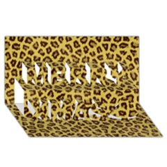 LEOPARD FUR Merry Xmas 3D Greeting Card (8x4)  by trendistuff