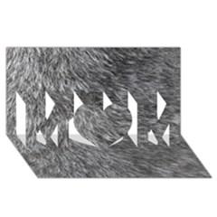 Grey Wolf Fur Mom 3d Greeting Card (8x4)  by trendistuff