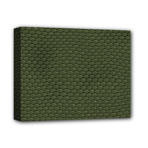Green Reptile Skin Deluxe Canvas 14  X 11  by trendistuff