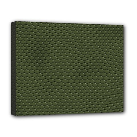 Green Reptile Skin Deluxe Canvas 20  X 16   by trendistuff