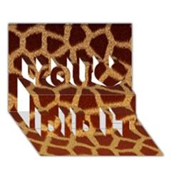 Giraffe Hide You Did It 3d Greeting Card (7x5)
